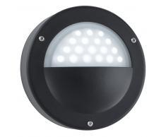 85242 LED-Aussenleuchte, schwarz, Aluminium, Kreis-Form