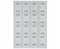 BISLEY MONO BLOC Kleiderspind mit 4 Abteil und 16 Fächer, b118xt50xh170cm
