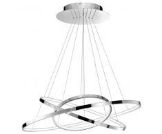 HOOP LED-Pendelleuchte, chrom, 3 Ringe, dimmbar, 6265001