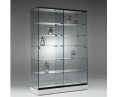POLARIS Standvitrine mit Schiebetüren b125xt46xh182cm