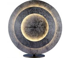 TIMES LED-Tischleuchte Uhr,dimmbar Blattsilber
