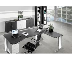 ARTLINE Büromöbel Set, 1 ergonomischer Arbeitsplatz mit Anbautisch, 500x550