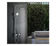 Lonheo Thermostat Duschsystem Höhenverstellbare Duscharmatur inkl. Handbrause, Regenbrause,