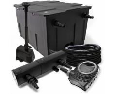 Filter Set ausfilter 60000l, SuperEco Pumpe, Schlauch, 18W Klärer, Springbrunnenpumpe und Skimmer