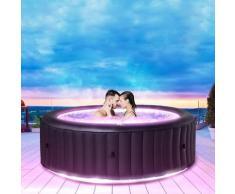 6 Personen LED Whirlpool aufblasbar AURORA Outdoor Garten Massage Pool 2021 - Mspa