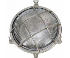 Licht-erlebnisse - Wandlampe Außen Echt-Messing Ø24cm IP64 Maritim