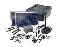 Solar Teichfilter Set 50/1700 + Akku Solarpumpe Filter Gartenteich esotec 101075
