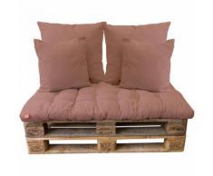 5tlg Palettenkissen-Set, Antler Rose / 120x80cm / 2x(65x65cm) / 2x(45x45cm) Sitzkissen Polsterkissen