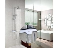 Duschsystem mit Thermostat Regendusche Duschset mit Wasserhahn 3 Funktionen Duscharmatur Dusche