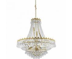 03-searchlight - Hängelampe 13 Glühbirnen Versailles, in Gold und Kristall