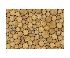 Papier Fototapete Holzstapel Rund 368x254cm
