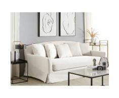 Sofabezug Weiß Polyester Pflegeleicht Modern Klassisch Wohzimmer Salon