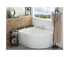 Weiße Whirpool-Badewanne mit LED-Beleuchtung SPA Paradiso