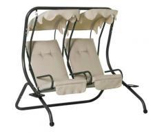 Outsunny® Hollywoodschaukel Gartenschaukel 2-Sitzer Beige 170x136x170cm - beige