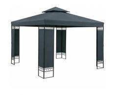 Pavillon Gartenzelt Gartenpavillon Lorca 3x3m Metall Wasserabweisend Luxus anthrazit