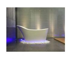 Freistehende Nostalgie Badewanne Napoli aus Mineralguss in matt von Bädermax
