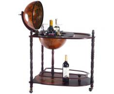 COSTWAY Globusbar Minibar Weltkugel Weinregal Flaschenregal Globus Bar Hausbar mit Tischplatte und