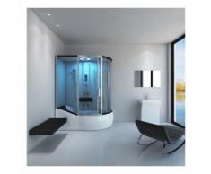 Badenwanne inkl. Dusche ALLIN 4in1 weiß (rechts) | Duschkabine, Duschtempel, Komplettdusche - Home