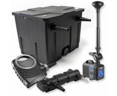 SunSun 1-Kammer Filter Set für 12000l mit 24W UVC Teich Klärer NEO7000 50W Pumpe Springbrunnen