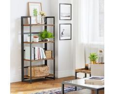 Bücherregal, Standregal, Klappregal, Regal mit 4 Ablagen, multifunktional Küchenregal, einfache