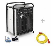 Trotec Elektroheizer TDS 75 + Profi-Verlängerungskabel 20 m / 400 V / 6 mm²