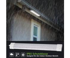 Ultraslim LED Feuchtraumleuchte Deckenleuchte Wannenleuchte Wasserdicht IP65 (10 Stück, 18W 60CM)