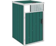 Mülltonnenbox Grün 72×81×121 cm Stahl - Youthup
