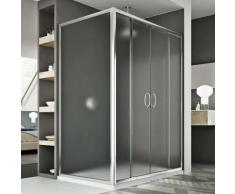 Replay Duo 2 Türen Duschkabine 170x90 CM H185 Strukturglas