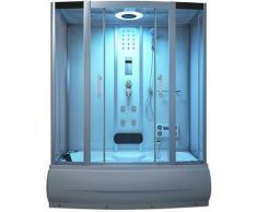 Badewanne mit Dusche Diamond - weiß I Duschtempel, Whirlpool, Dampfdusche - Home Deluxe