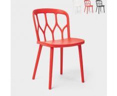 Modernes Design Stühle für Küchenbar und Garten In Alchemie Polypropylen Flow | Rot