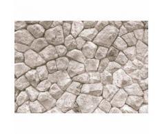 Papier Fototapete Große Steinmauer 368x254cm