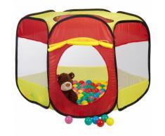 Relaxdays Bällebad mit 100 Bällen für Kinder, Popup Spielzelt als Ballpool ab 3, HBT: 70x85x100 cm,