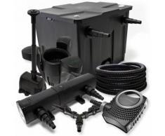 Filter Set 12000l Teich 24W Teichklärer NEO8000 70W Pumpe 25m Schlauch Skimmer SK30 Springbrunnen