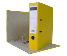 320 x Ordner A4 8 cm PP Kunststoff Gelb Aktenordner Briefordner Breit 80 mm