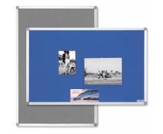 magnetoplan® Pinnwand Typ SP - Textil, grau - BxH 1500 x 1000 mm Infotafel
