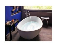 Freistehende Badewanne Vicenza aus Mineralguss in glänzend von Bädermax