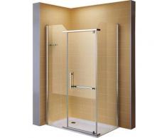 Duschkabine Duschabtrennung Eckkabine NANO-ESG Klarglas DK8020 Links und Rechts montierbar 100x120