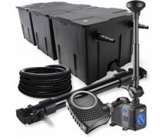 Wiltec - SunSun 3-Kammer Filter Set 90000l 72W UVC Teich Klärer NEO10000 80W Pumpe Schlauch