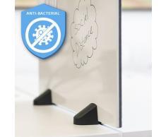 Smit Visual - Schreibtisch-Trennwand - 58x160cm - Pinnwand/Whiteboard '2 in 1' - Antibakteriell