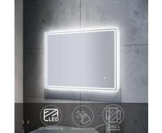 Badspiegel LED mit Beleuchtung Touch Wandspiegel Badezimmerspiegel 80x60cm Bad
