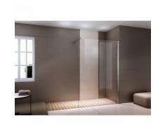 Duschabtrennung Walk-In Dusche Nano Echtglas EX101 - 8mm - Klarglas - Breite wählbar 1100mm