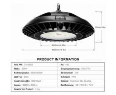 LED Industrielampe Werkstattlampe Hallenstrahler UFO (200W, 5 Stück)