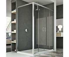 Replay Duo 2 Türen Duschkabine 150x90 CM H185 Klarglas