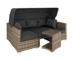 Tectake - Rattan Lounge mit Aluminiumgestell San Marino - Gartenlounge, Terrassenmöbel, Rattan