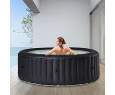 6 Personen Whirlpool aufblasbar Rimba Outdoor Garten Massage Pool rund 2021 - Mspa