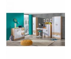 Kinderzimmer Set A Fabian, 4-teilig, Farbe: Eiche Hellbraun / Weiß