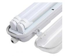 LED Feuchtraumleuchte Wannenleuchte 150 CM Werkstattleuchte 2x 24W Neutralweiß G13 T8 Lampe LED