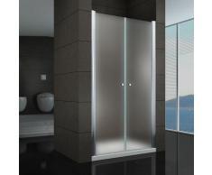 Duschtür Pendeltür Nischentür Duschabtrennung Schwingtür Dusche Satiniert 120-124 cm 195cm Höhe