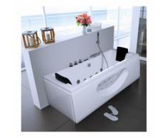 Home Deluxe - Whirlpool Badewanne Laguna M weiß | Eckwanne, Whirlwanne, Indoor Jacuzzi