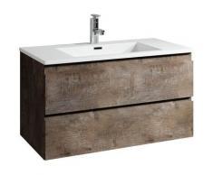 Badezimmer Badmöbel Set Angela 80cm Stone ash - Unterschrank Schrank Waschbecken Waschtisch